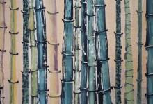 Bambouseraie 2010, Tusche auf Japanpapier, 135 x 70 cm