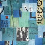 Dao trifft Dao 2011, Collage auf Leinwand, 50 x 50 cm