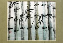 Bambus 2005, Tusche, 60 x 50 cm