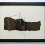 Verlassenes Haus 2012, geschöpftes Papier, 45 x 35 cm