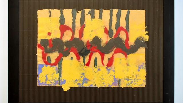 Welle 2010, geschöpftes Papier, 45 x 35 cm