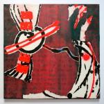 o. T. 2012, Collage mit geschöpften Elementen, 40 x 40 cm