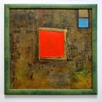 Quadrate 2007, Collage Mischtechnik, 50 x 50 cm