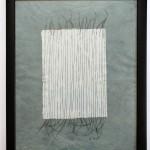 Tanzende Fäden 2012, Fäden in Papier geschöpft, 45 x 55 cm