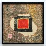 Tuschquadrat 2007, Tusche und Papier, 20 x 20 cm