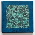 Kleines Blau 2012, Mischtechnik, 20 x 20 cm