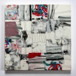 Quadrate 2013, Papiercollage aus geschöpftem Papier, 30 x 30 cm