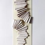Faltung 2013, Papierfaltung auf Karton, 13 x 40 cm