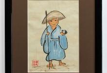 Kleiner Mönch 2003, Tusche auf Chinapapier, 30 x 40 cm