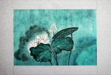 Lotus 2010, Tusche auf Chinapapier, 65 x 44 cm