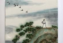 Vogelflug 2011, Tusche auf Chinapapier auf Keilrahmen, 30 x 30 cm