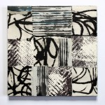 o. T. 2011, Collage mit geschöpftem Papier, 30 x 30 cm