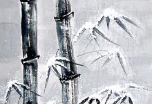 Winter 2004, Tusche, 50 x 80 cm, gerahmt