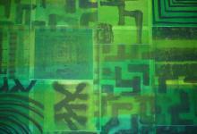 o.T. 2010, Collage Tusche, 100 x 70 cm