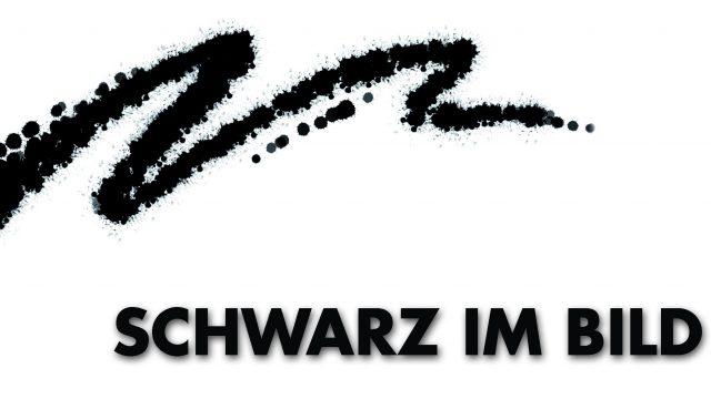 """die SCHNITTMENGE • Postkarte """"Schwarz im Bild"""" Vorderseite"""